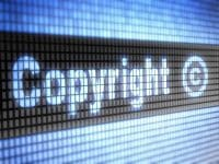 Copyright on screen